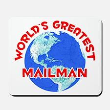 World's Greatest Mailman (F) Mousepad