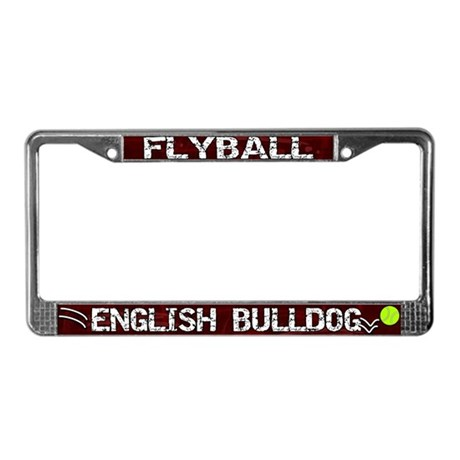 Flyball English Bulldog License Plate Frame