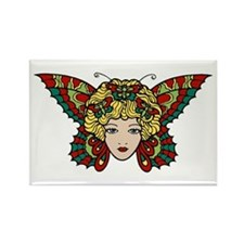 Butterfly Woman Rectangle Magnet