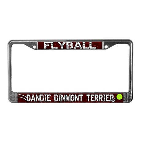 Flyball Dandie Dinmont Terrier License Plate Frame