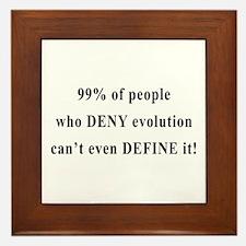 Evolution - Deny? Define! Framed Tile