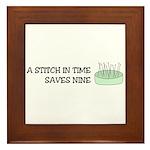 A Stitch in Time Framed Tile