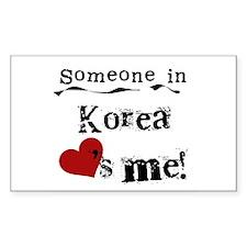 Korea Loves Me Rectangle Decal