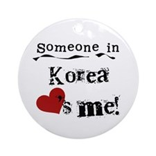 Korea Loves Me Ornament (Round)