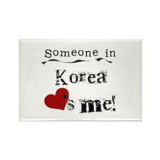 Korea Loves Me Rectangle Magnet