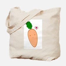 Carrot Cartoon Love Tote Bag