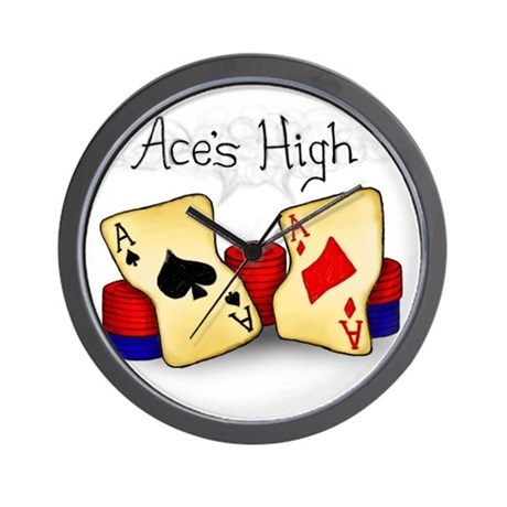 Aces High Wall Clock
