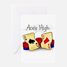Aces High Greeting Card