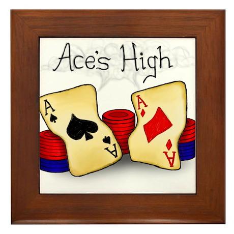 Aces High Framed Tile