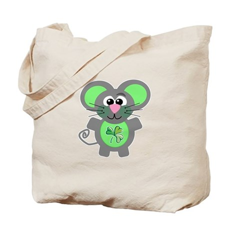 St. Patty's Day Shamrock Mouse Tote Bag