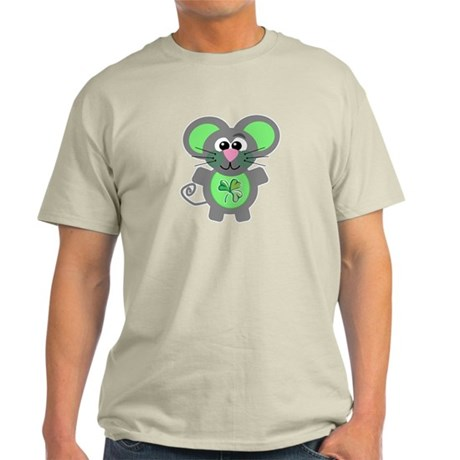 St. Patty's Day Shamrock Mouse Light T-Shirt