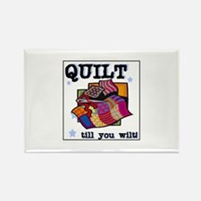 Quilt Till You Wilt Rectangle Magnet (10 pack)