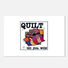 Quilt Till You Wilt Postcards (Package of 8)