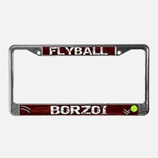 Flyball Borzoi License Plate Frame