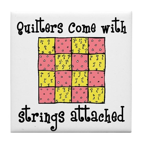 Quilters - Strings Attached Tile Coaster