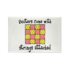 Quilters - Strings Attached Rectangle Magnet