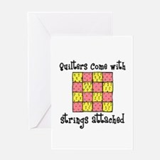 Quilters - Strings Attached Greeting Card