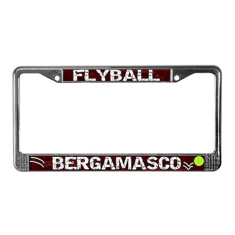 Flyball Bergamasco License Plate Frame