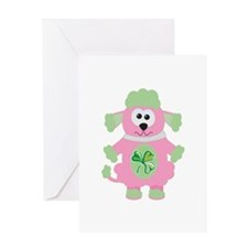St Patty's Irish Goofkins Poodle Greeting Card