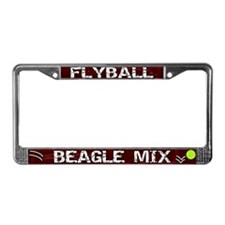 Flyball Beagle Mix License Plate Frame