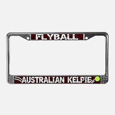 Flyball Australian Kelpie License Plate Frame