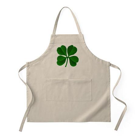 Lucky Four Leaf Clover Irish BBQ Apron