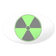 Green Radiation Symbol Decal