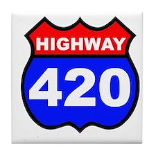 Highway 420 Tile Coaster