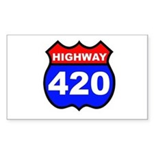 Highway 420 Rectangle Bumper Stickers