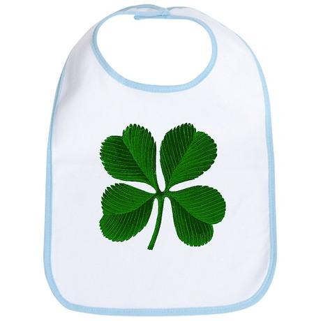 Lucky Four Leaf Clover Irish Bib