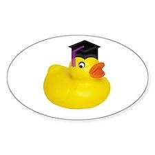 Ducky Graduation Oval Decal
