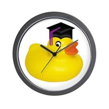 Ducky Graduation Wall Clock