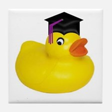 Ducky Graduation Tile Coaster