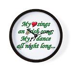 IRISH SONG Wall Clock