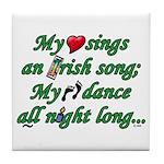 IRISH SONG Tile Coaster