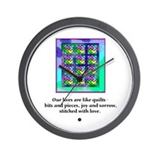 Quilts Stitched With Love Wall Clock