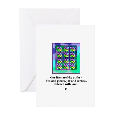 Quilts Stitched With Love Greeting Card