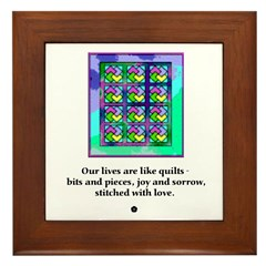 Quilts Stitched With Love Framed Tile