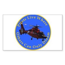 where others dream... heli Rectangle Decal