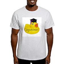 Ducky Congratulations! Ash Grey T-Shirt
