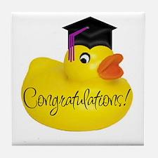 Ducky Congratulations! Tile Coaster