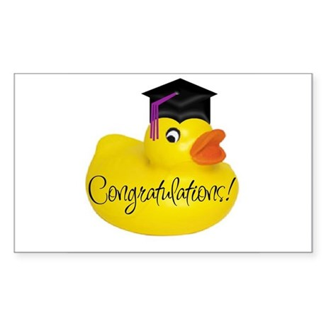 Ducky Congratulations! Rectangle Sticker