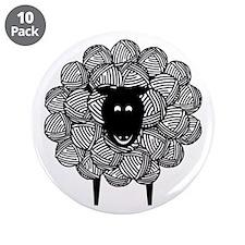 "Yarny Sheep 3.5"" Button (10 pack)"