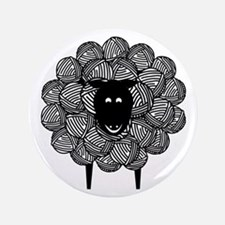 "Yarny Sheep 3.5"" Button"