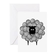 Yarny Sheep Blank Greeting Cards (Pk of 10)