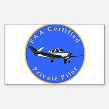 Private Pilot - Bonanza Rectangle Decal