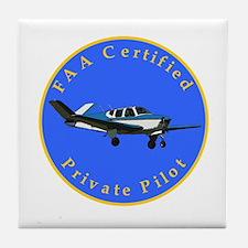 Private Pilot - Bonanza Tile Coaster