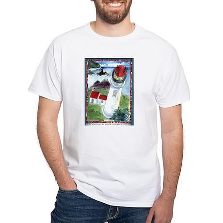 Bird Watching @ Heceta Lighthouse White T-Shirt