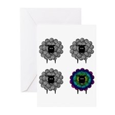 Unique Sheep Blank Greeting Cards (Pk of 10)