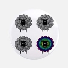 "Unique Sheep 3.5"" Button"